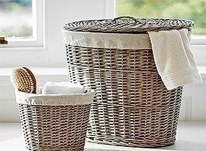 Плетеные корзины для вещей