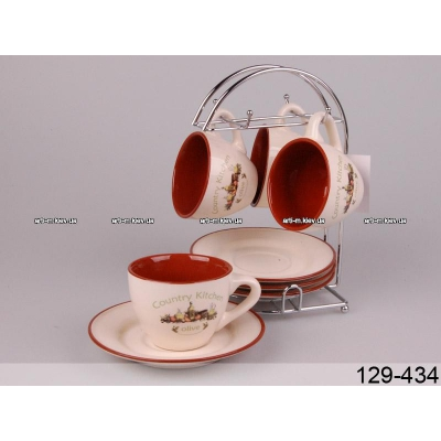 Чайный набор на подставке Прованс (129-434)