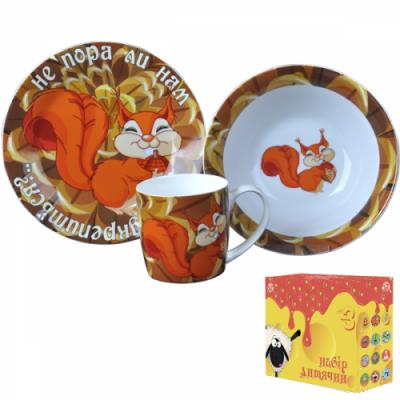 Детский набор посуды Белка с желудем (5132-12)