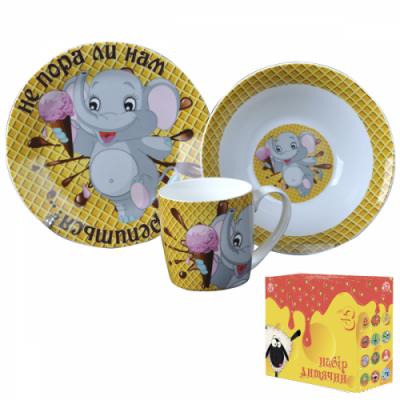 Детский набор посуды Слонёнок-сластёна (5132-05)