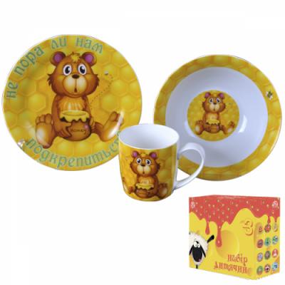 Детский набор посуды Мишка с мёдом (5132-01)