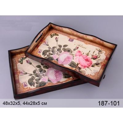 Набор подносов Розы (187-101)