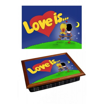 Поднос на подушке Love is