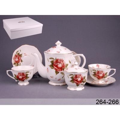 Чайный набор корейская роза, 15 пр. (264-266)