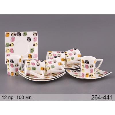 Кофейный набор Совы, 12 пр. (264-441)