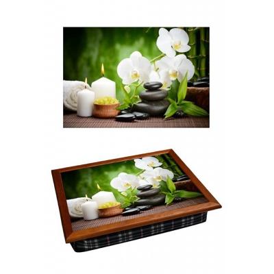 Поднос с подушкой Белая орхидея (2.76)