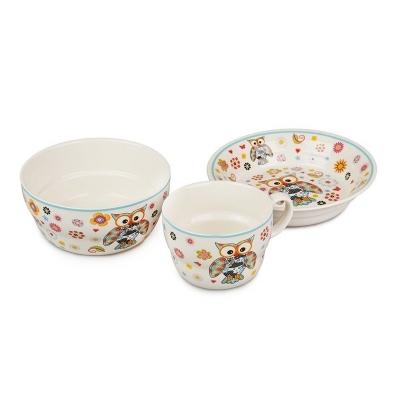 Детский набор посуды Совушка, 3 пр. (359-013)