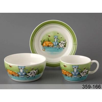 Детский набор посуды Веселые котята (359-166)