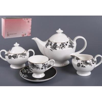 Чайный сервиз Черный шелк (440-020)