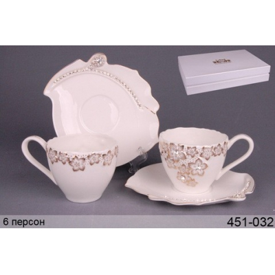 Чайный набор Золотые цветы (451-032)