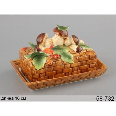 Масленка фарфоровая Грибная поляна (58-732)