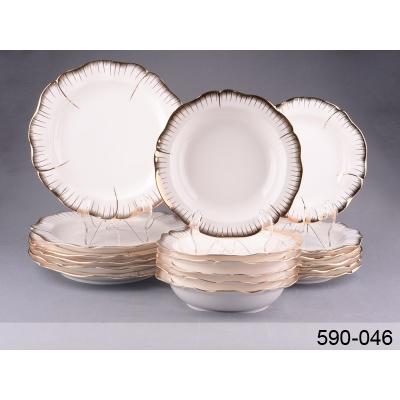 Набор тарелок Роза, 18 пр. (590-046)