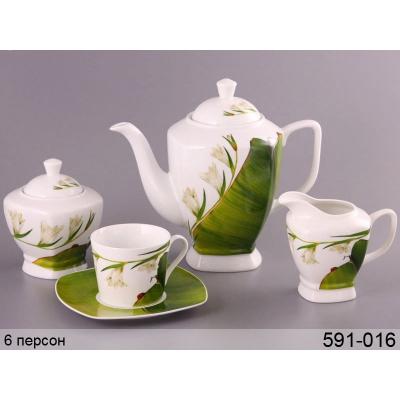 Чайный сервиз Ландыш на 6 персон (591-016)