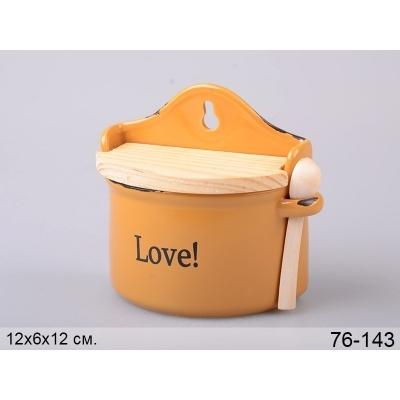 Банка для соли Любовь с ложкой (76-143)