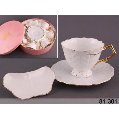 Чайный набор золотая волна, 18 пр. (81-301)