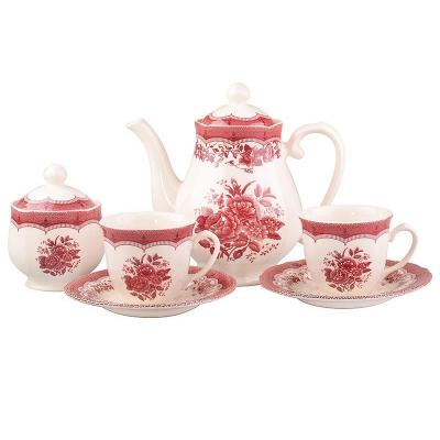 Чайный сервиз Виктория Пинк, 15 пр. (910-068)