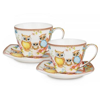 Чайный набор Совы, 4 пр. (924-091)