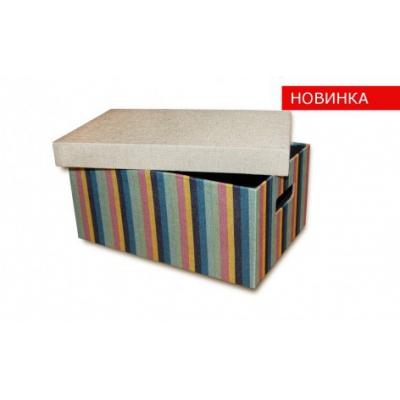 Короб с крышкой Цветные полосы (FB06-L)