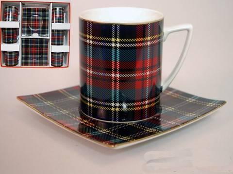 Чайный сервиз Шотландка