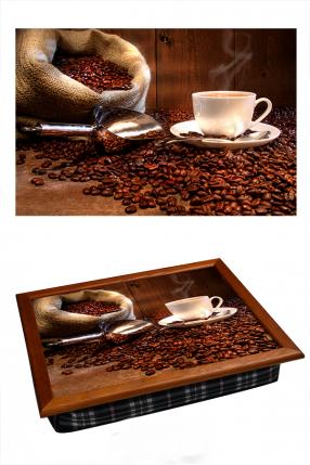 Поднос на подушке Кофейные зерна