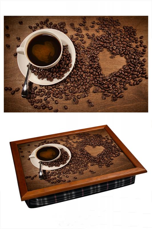 Поднос на подушке Кофе с любовью