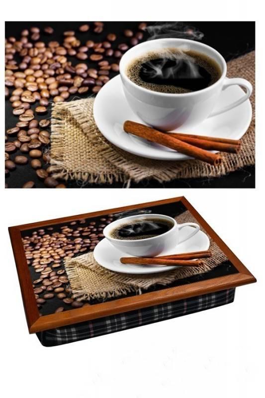Поднос на подушке Горячий кофе
