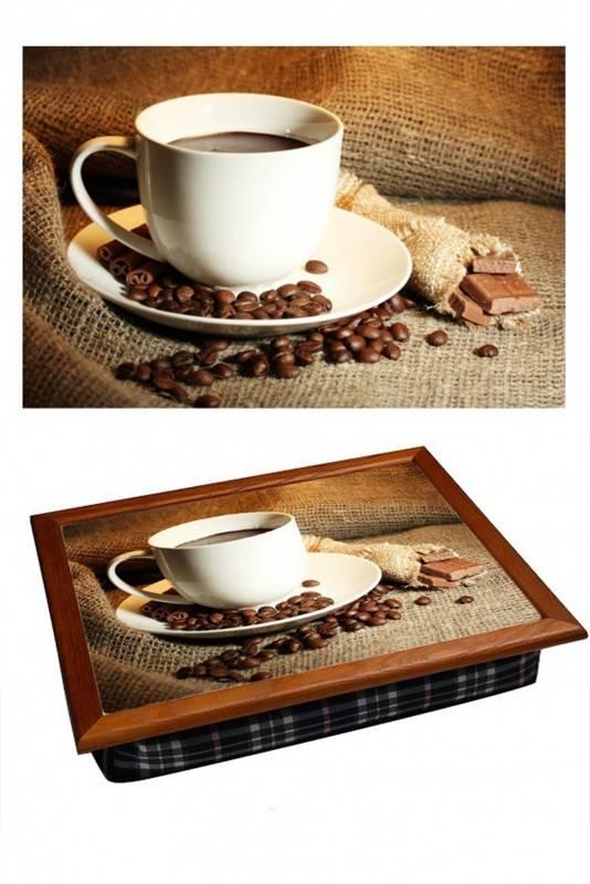 Поднос на подушке Чашка кофе