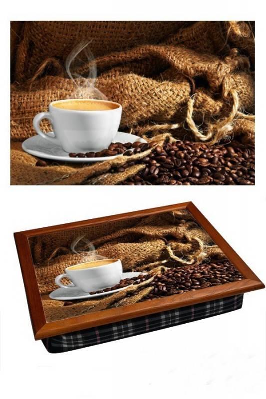 Поднос на подушке Кофе