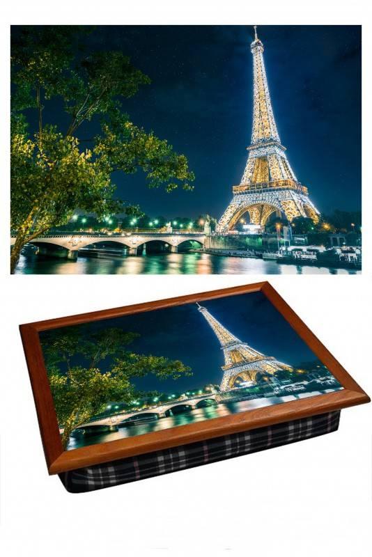 Поднос на подушке Вечерний Париж