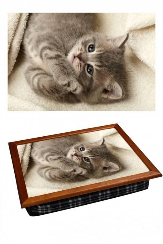 Поднос на подушке Котёнок