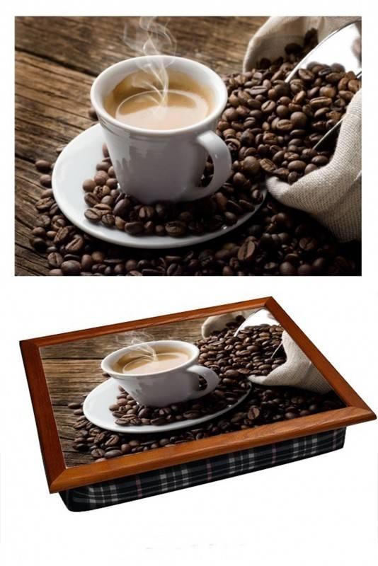 Поднос на подушке Любимый кофе