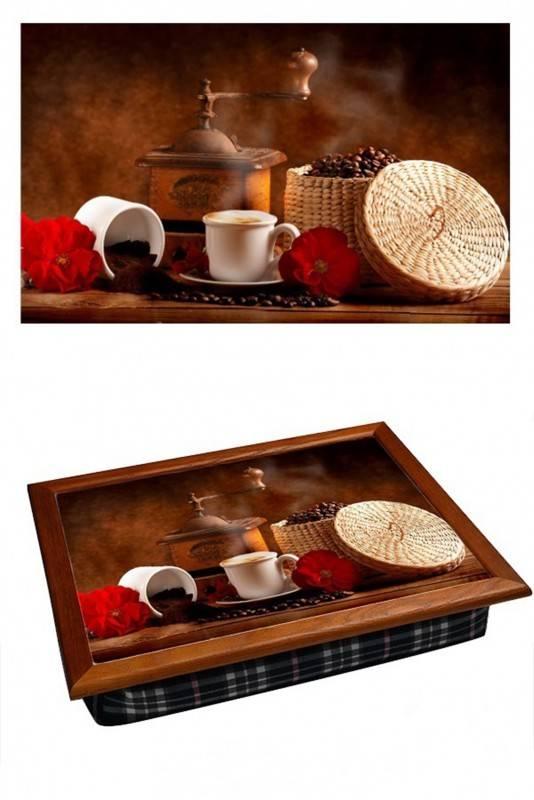 Поднос на подушке Приготовление кофе