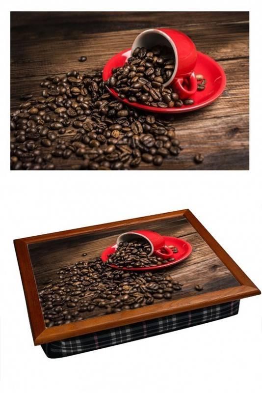 Поднос на подушке Кофе Red