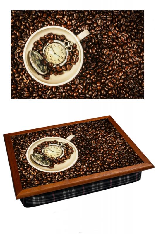 Поднос на подушке Время кофе