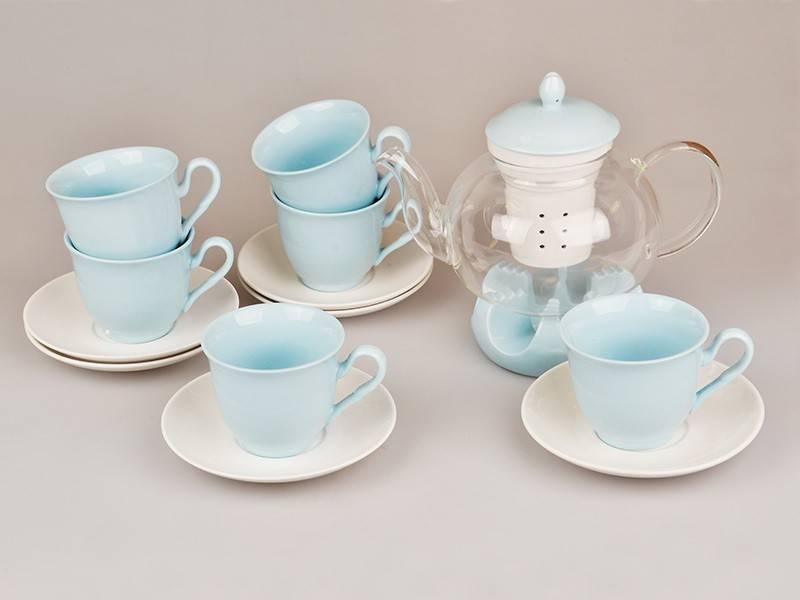 Чайный набор Blue, 14 пр.