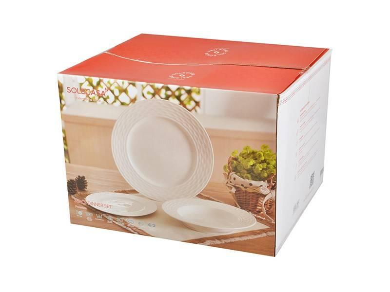Набор тарелок Solecasa на 12 персон
