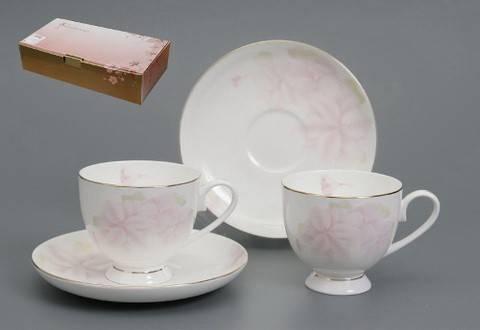 Чайный сервиз Розовый цветок