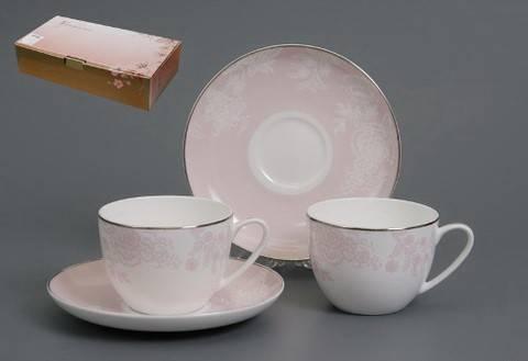 Чайный сервиз Розовый шелк
