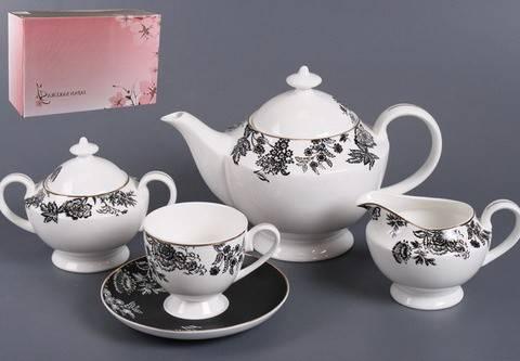 Чайный сервиз Черный шелк