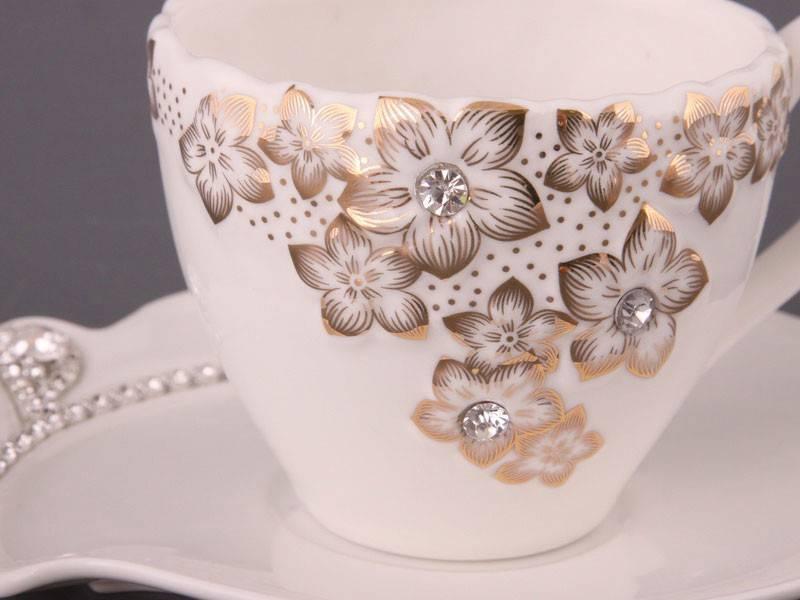 Чайный набор Золотые цветы