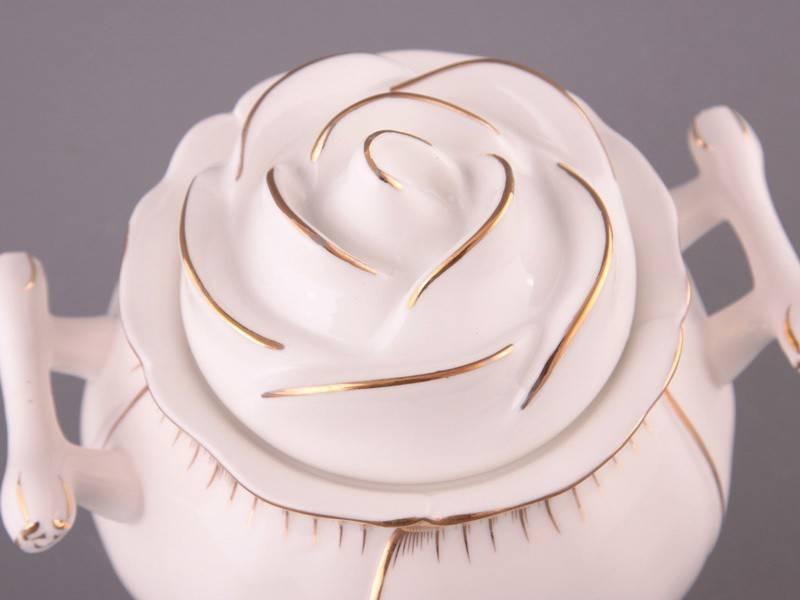 Фарфоровая сахарница Роза