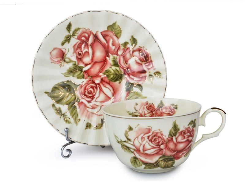 Чайный набор корейская роза, 12 пр.