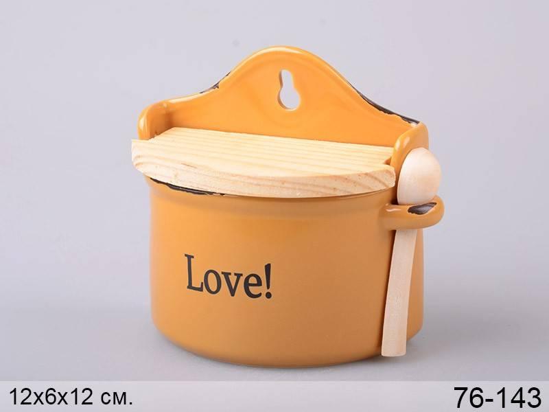 Банка для соли Любовь с ложкой