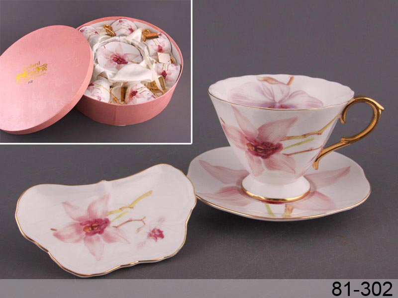 Чайный набор орхидея, 18 пр.