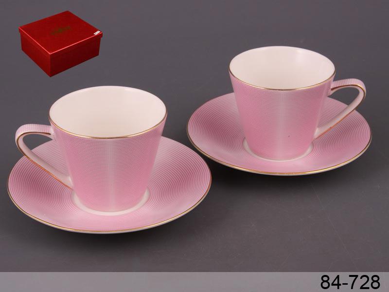 Набор чайный модерн розовый, 4 пр.