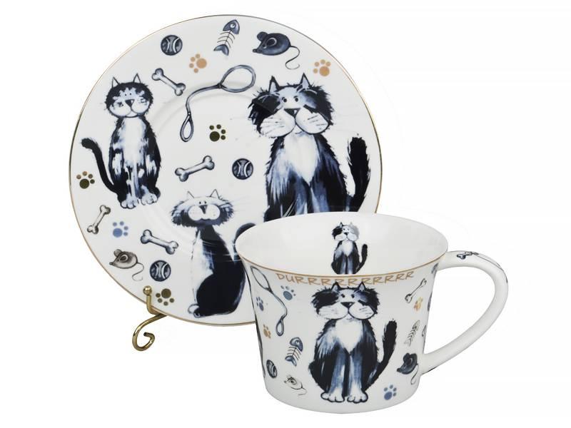 Чайный набор коты, 12 пр.