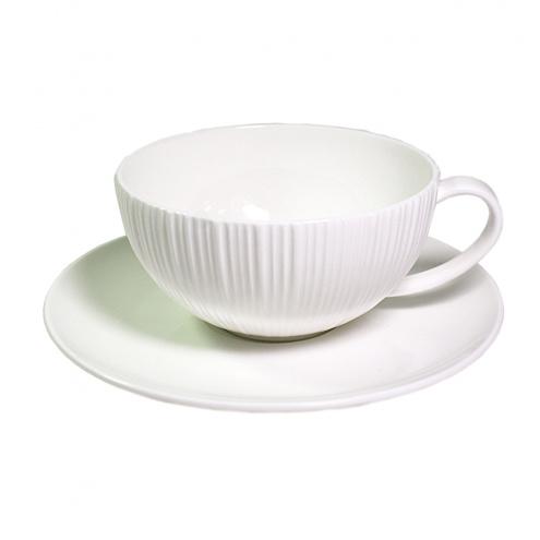 Чашка с блюдцем ELEGANCE WHITE  Fissman
