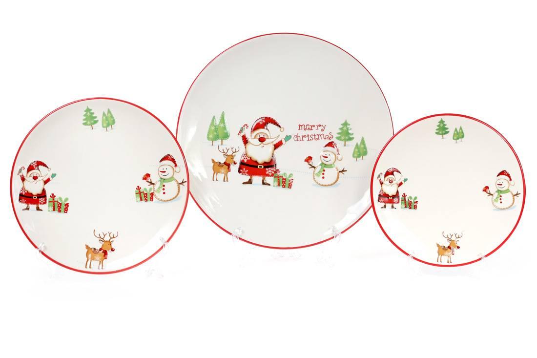 Тарелка Веселый Санта