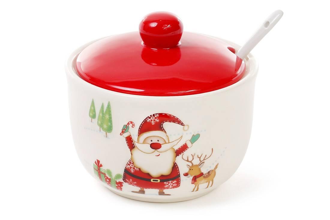 Сахарница Веселый Санта