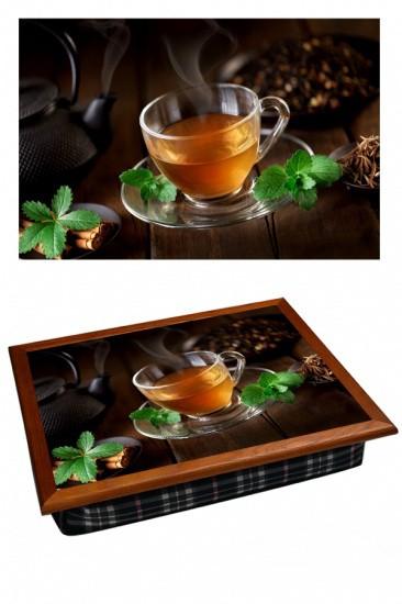 Поднос на подушке Чай с мятой